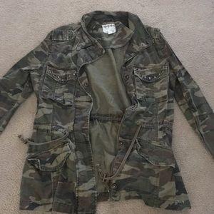 Jackets & Blazers - Camo denim jacket